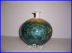 Ceramic Crystalline Glazed Pottery Vase Marked Sb 7 x 6