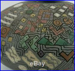 Ceramic Studio Pottery Modern Hand Crafted Deco Style Large Vase Signed Art