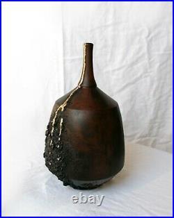 Ceramic vase, Hand finished Wabi -Sabi ceramic, Japanese pottery technique