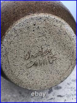 Charles Counts Abstract Sgraffito Studio Pottery Lidded Jar Vase c. 1960s