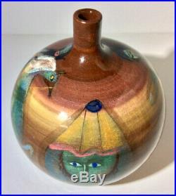 Charming, Colorful Vintage Polia Pillin Vase, Circus Theme, c. 1960s-70s