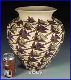 Common Ground Pottery, Jumbo Fan Flowers vase, Eric Olson art pottery