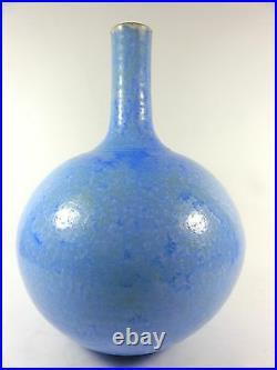 Crystalline Pottery Vase Large Studio Art Artist Signed