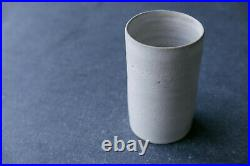 DAME LUCIE RIE British studio pottery stoneware WHITE FLOWER VASE c1950s