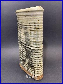Don Reitz Studio Pottery Pottery Vase Ribbed Stoneware Ceramic Mid Century Mod