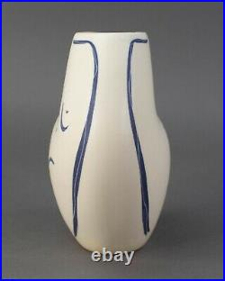 Donna Polseno Signed Abstract Nude Female Torso Figural Vase Picasso Style