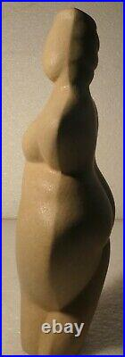 Donna Polseno Studio Pottery Signed Nude Vase