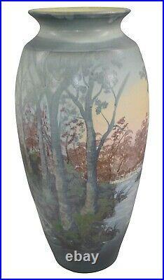 Door Pottery 2008 Scenic Vellum Landscape Floor Vase (Draves)