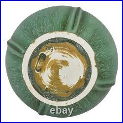 Door Pottery Art Deco Prairie Globe Cucumber Green Vase