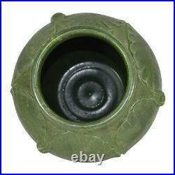 Door Pottery Matte Green Large Leaf Product Development Vase