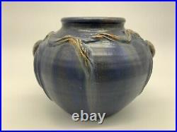 Door Pottery Round Pine Cone Vase, Scott Draves, Retired Piece, Art Nouveau