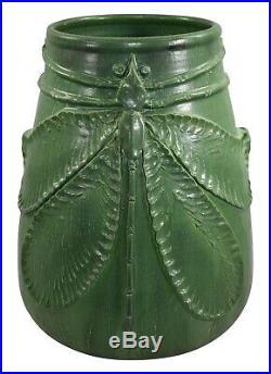 Door Studio Pottery 2007 Large Wheatley Matte Green Dragonfly Vase