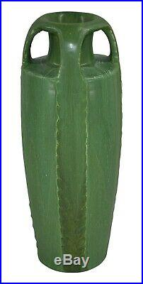 Door Studio Pottery Four Handled Tall Arts and Crafts Vase
