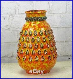 Dumler Breiden Studio Vase Art Pottery Retro Pop art Mid Century Modern Orange
