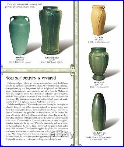 Ephraim Faience Art Pottery Day Lily Vase 1999 Leaf Green Signed Kevin Hicks