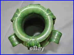 Ephraim Faience Kevin Hicks Art Pottery Large 14 Vase Grueby Style Matte Green