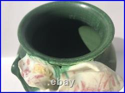 Ephraim Faience Pottery #112 White Iris Vase. Retired 2004. Mint Condition