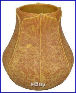 Ephraim Faience Pottery 2000 Curdled Yellow Begonia Vase 012