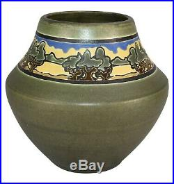 Ephraim Faience Pottery 2000 SEG Style Oak Savannah Vase 841