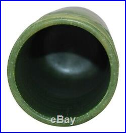 Ephraim Faience Pottery 2001 Experimental Matte Green Ginkgo Vase