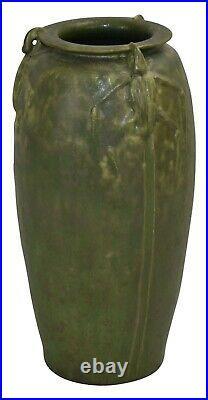 Ephraim Faience Pottery 2002 Climbing Beetle Vase 118