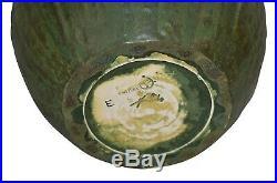 Ephraim Faience Pottery 2003 Experimental Textured Rhinoceros Beetle Vase