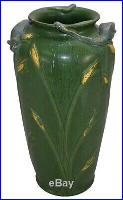 Ephraim Faience Pottery 2003 Field Mouse Green Ceramic Vase 246