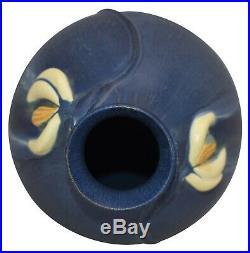 Ephraim Faience Pottery 2003 Snowdrop Indigo Glaze Ceramic Vase 114