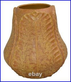 Ephraim Faience Pottery 2004 Large Begonia Yellow Arts and Crafts Vase 228