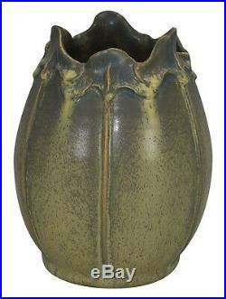 Ephraim Faience Pottery 2005 Autumn Ginkgo Vase 518