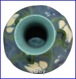 Ephraim Faience Pottery 2005 Experimental White Water Lily Vase (Wolf)
