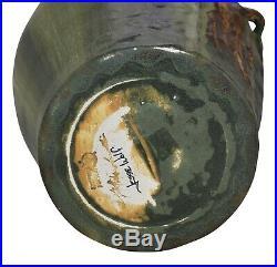 Ephraim Faience Pottery 2005 Large Climbing Bear Show Piece Vase 451