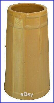 Ephraim Faience Pottery 2005 Large Satin Yellow Bungalow Rose Vase 410