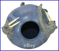 Ephraim Faience Pottery 2005 Walrus Show Piece Ceramic Vase 551