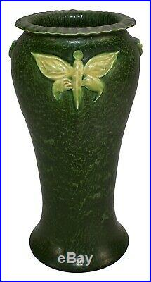 Ephraim Faience Pottery 2006 Experimental Butterfly Ceramic Vase