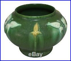 Ephraim Faience Pottery 2006 Experimental Butterfly Green Ceramic Vase