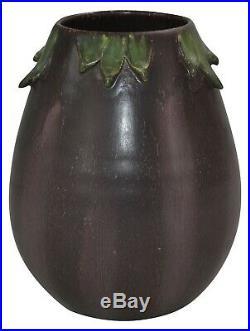 Ephraim Faience Pottery 2006 Experimental Eggplant Vase 613