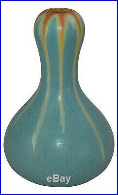 Ephraim Faience Pottery 2006 Pear Gourd Sky Glaze Vase 628