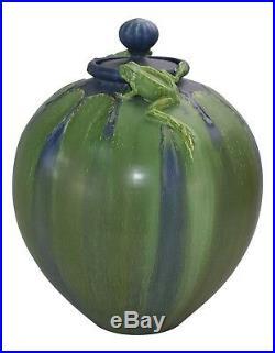 Ephraim Faience Pottery 2008 Experimental Massive Frog Lidded Jar