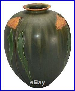 Ephraim Faience Pottery 2010 Dreams Of Oz Arts And Crafts Show Piece Vase C51