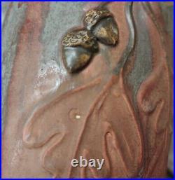 Ephraim Faience Pottery Large Vase Autumn Oak retired by Kevin Hicks