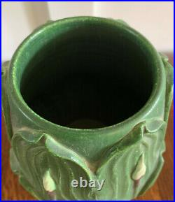 Ephraim Pottery Hosta Vase, Leaf Green Glaze