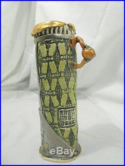 Erik Gronborg Studio Porcelain Pottery Ceramic Vessel 6.5 Vase C6