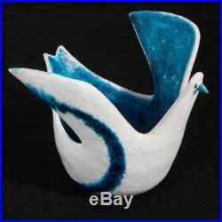 Exceptional Guido Gambone Ceramic Bird Vase Italian Mid Century Ceramic 10-1/2