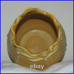 Experimental Autumn Ginkgo Vase by Ephraim Faience Pottery