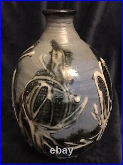 Exquisite Robert Sperry (1927-1998) Mid-Century Studio Art Pottery Vase 8x5.5