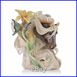 FZ03521 Franz Porcelain 13 Vase Paean Horse Limited Edition/988 Hand Made