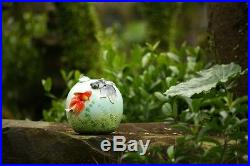 FZ03530 Franz Porcelain 8 Vase Goldfish Hand Made