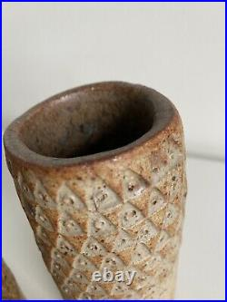 Fabulous Pair Of Alan Wallwork Studio Pottery Vases