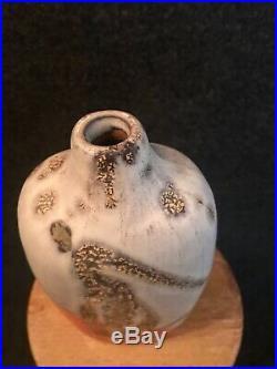 Fantoni / Italy, Drip Lava Glaze Vase / Brutalist Mid-Century Modern Gambone era